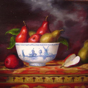 Delft and Red Pears