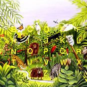 If Rousseau Painted the Alphabet  *available as giclee print