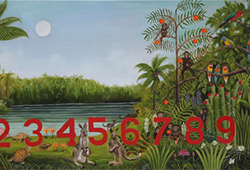 Numbers in a Rousseau Jungle Oil  *available as giclee print
