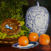 Still Life with Blue Bird Eggs
