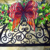 Wrought Iron & Holly  Christmas